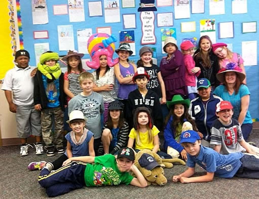 Maple Ridge students and their hats.